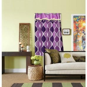 Purple Waves Curtain