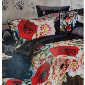 Dark Fantasy Double Bed 3D rose print  Bed Sheets