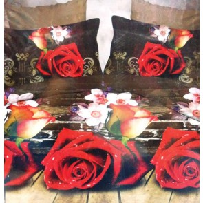 Dark Fantasy Rose Print 3d Bed Sheets for Double Bed