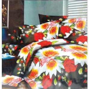 Roses Floral Cotton Double Bed Bedsheet