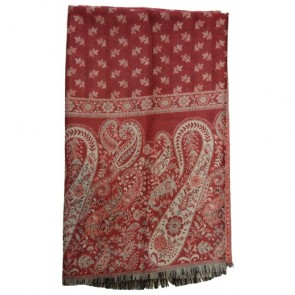 Red India Woolen Shawls For Women