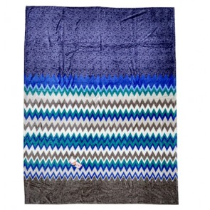 Triangle wave design Single Bed Quilt Blanket Throw