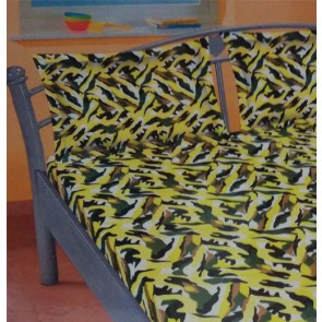 Yellow Contemporary Cotton Double Bed Bedsheets