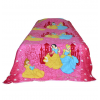 Cinderella Printed Kids Single Bed Reversible Blanket Quilt (Dohar)
