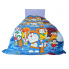 Doraemon Kids Single Bed Reversible Blanket Quilt (Dohar) - Blue