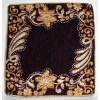 Purple Golden Embroidered Cushion Cover