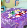 Disney go garden fairies signature Single Bed Blanket Quilt Throw