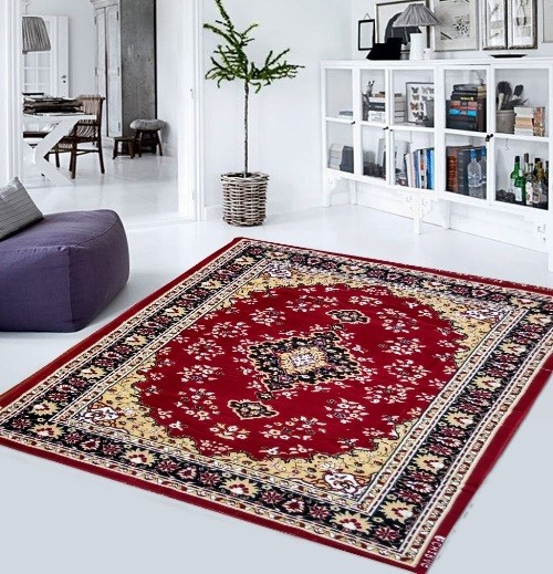 Buy Maroon Living Room Galicha Carpet