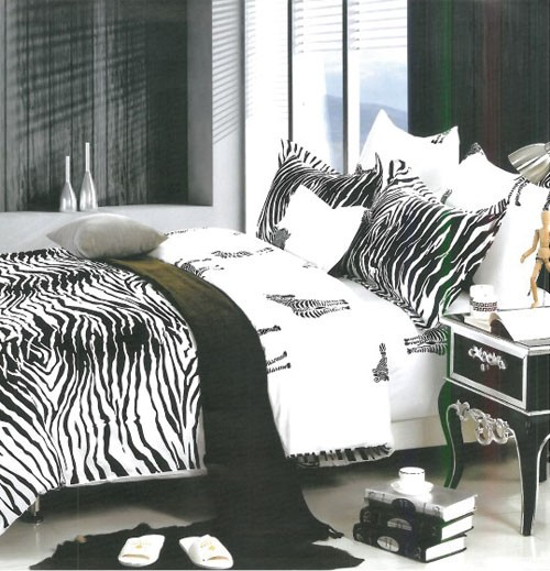 Black U0026 White Zebra Print Bed Sheets, Shades Of Paradise